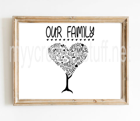 Our Family Heart Design