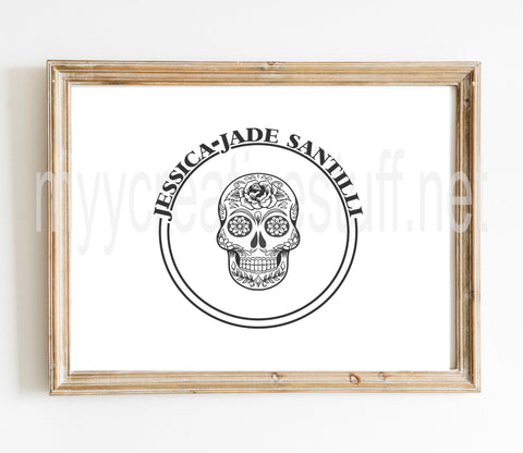 Sugar Skull Name Design