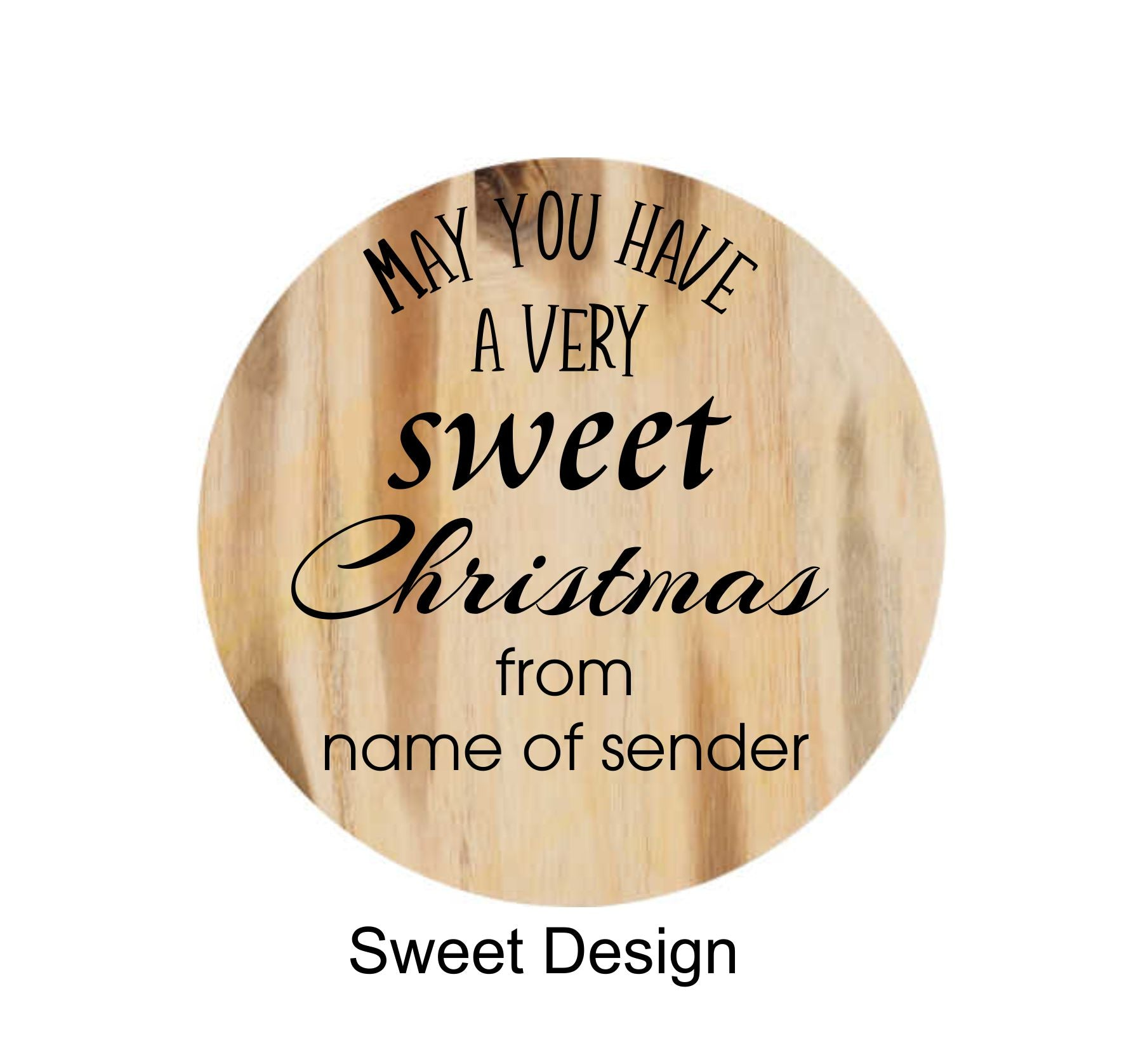 Sweet Christmas Engraving Design for Ceramic Jars