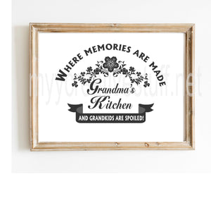 Where Memories Are Made Board design