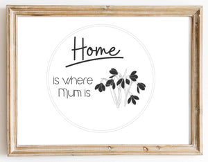 Where Mum Is design