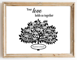 Your love holds us together design