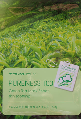 Tony Moly Pureness 100 Green Tea Sheet Mask