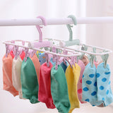 12 Clip Folding Drying Rack Underwear Socks Clip Multi-functional Clothes Rack Plastic Portable Cloth Drying Rack - WauwPauw