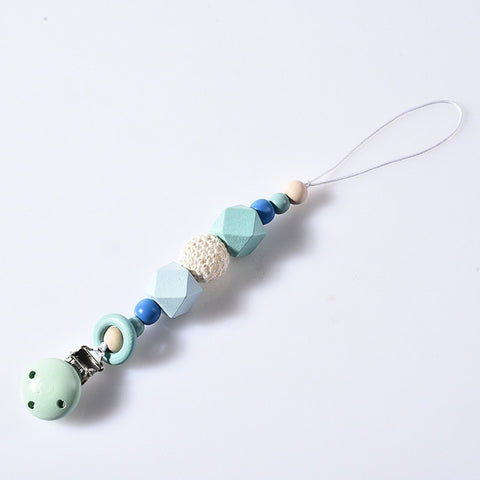 DIY Colorfull Wooden Baby Pacifier Clips Funny Pacifier Chain For Infant Feeding Toddle Teething Chew Toy Dummy Clips BPA Free - WauwPauw