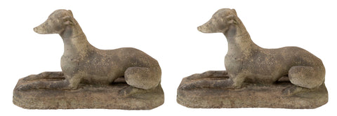 Pair of Stone Whippets