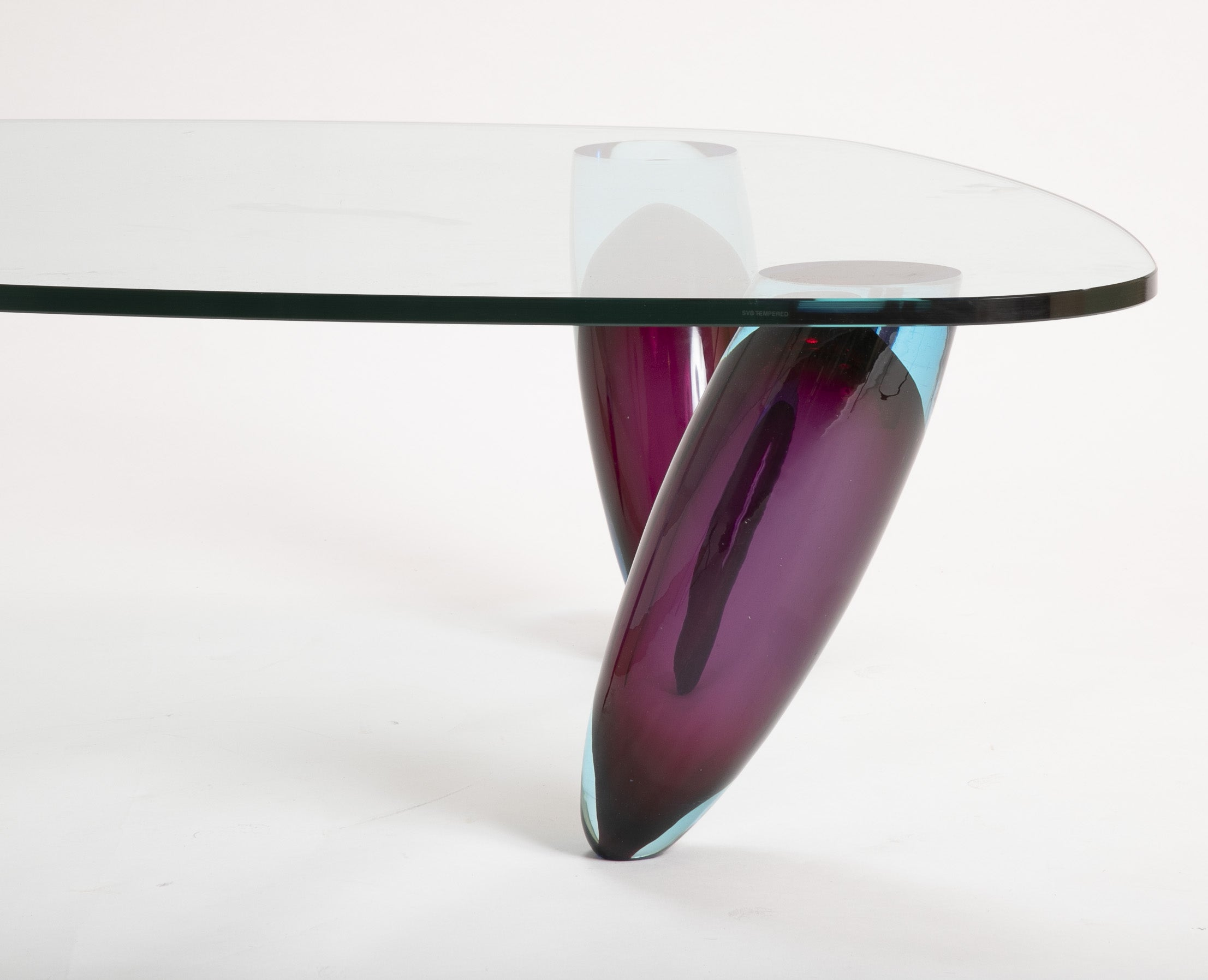 Italian Glass Coffee Table.Italian Murano Glass Coffee Table By Maurice Barilone For Roche Bobois