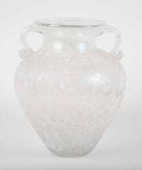 Murano Baluster Form Iridescent Glass Vase