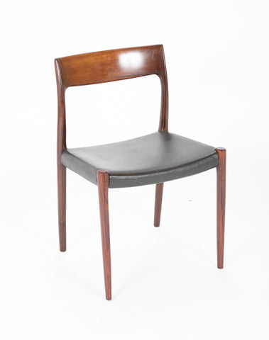 Set of Four Model 77 Niels Moller Rosewood Dining Chairs