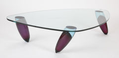 Italian Murano Glass Coffee Table by Maurice Barilone for Roche Bobois