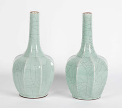 Pair of 19th Century Chinese Guan Type Vases