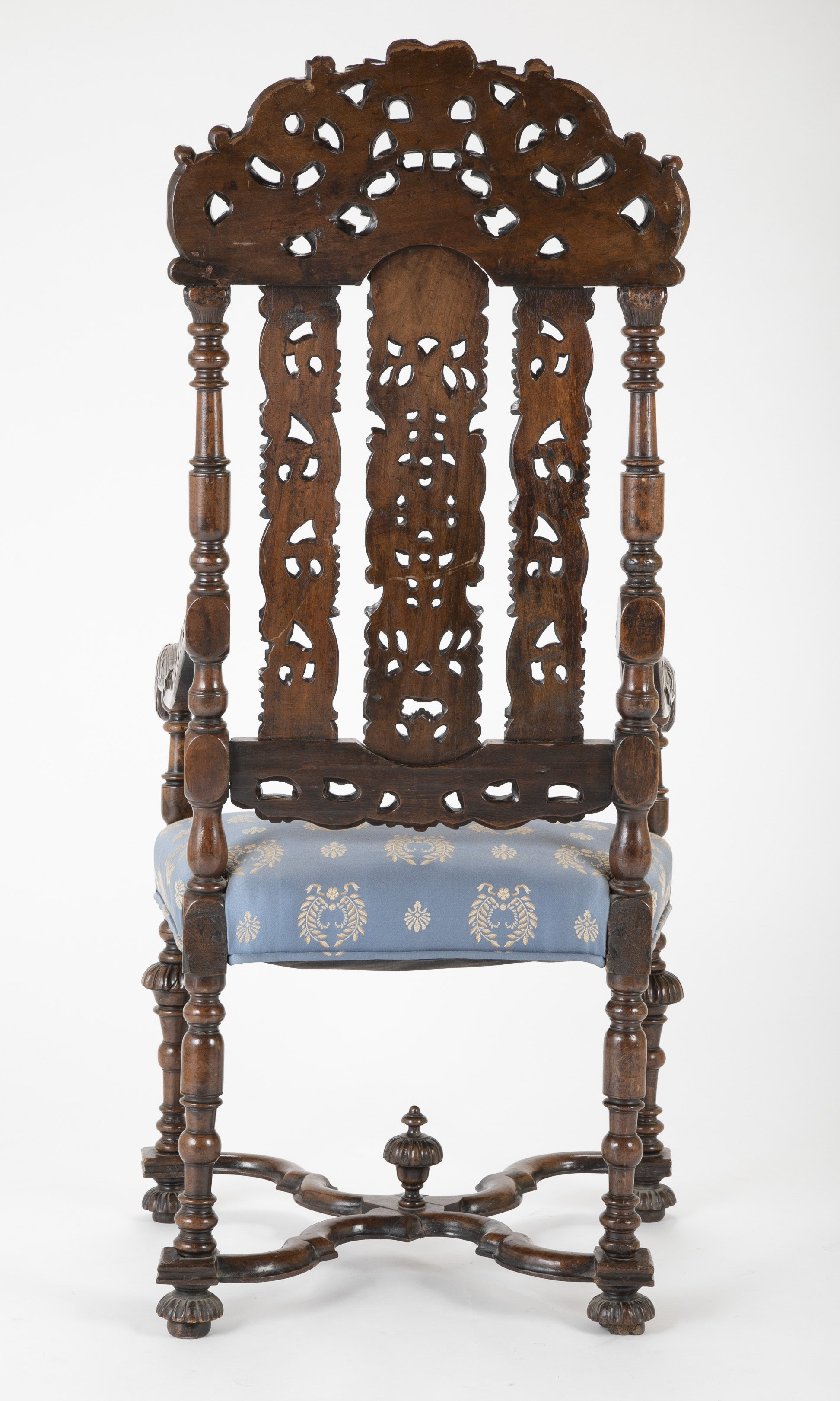 "Late 17th Century English Walnut ""Great"" Chair"
