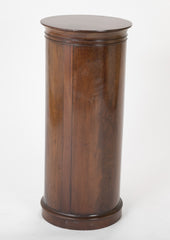 Pair of Mahogany Cylinder Form Pedestal Cabinets