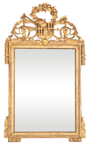 Louis XVI French Gilded Marriage or Bride's Mirror