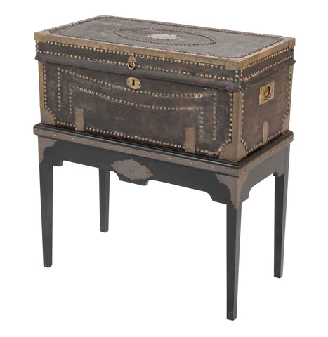 19th Century Chinese Export Camphor Wood Trunk on Stand