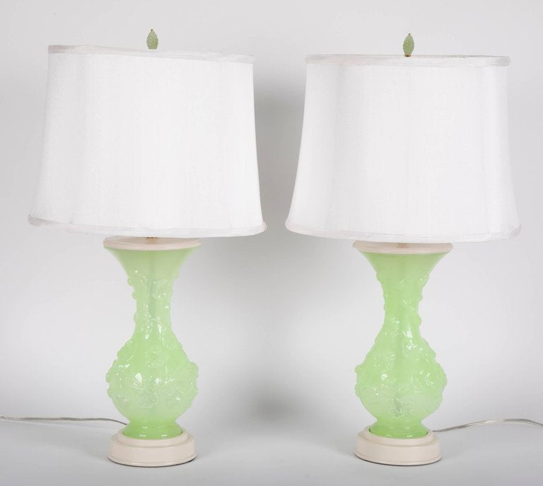 American Pressed Glass Vases now Table Lamps