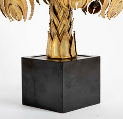 Pair of Palm Tree Form Lamps by Christian Techoueyres for Maison Jansen