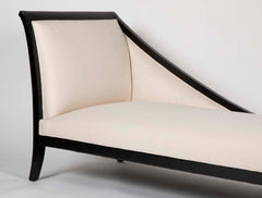 Art Deco French Ebonized Daybed with Graceful Lines