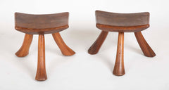 Pair of Rustic Maple Stools