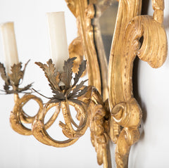 Pair of George III Two Light Sconce Mirrors
