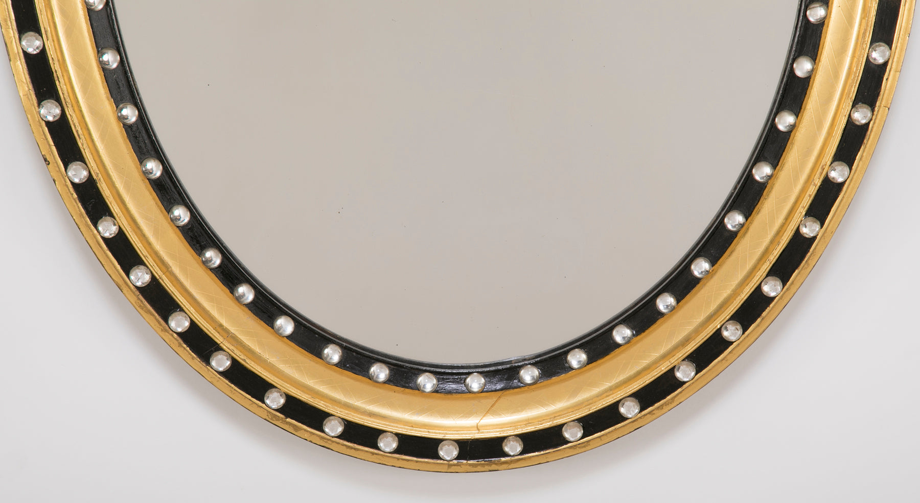 Irish Oval Ebonized Mirror