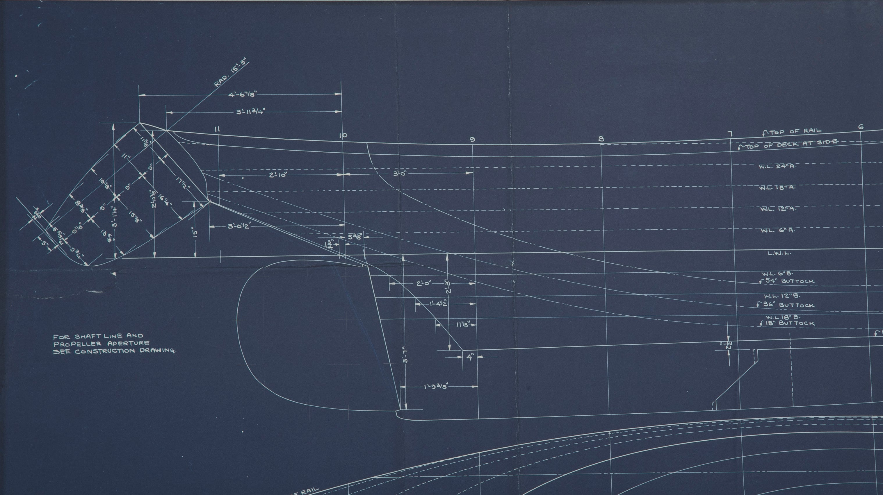 Original Blueprint of 35' Yawl by John Alden