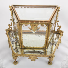French Aesthetic Movement Baccarat Crystal and Bronze Tantalus