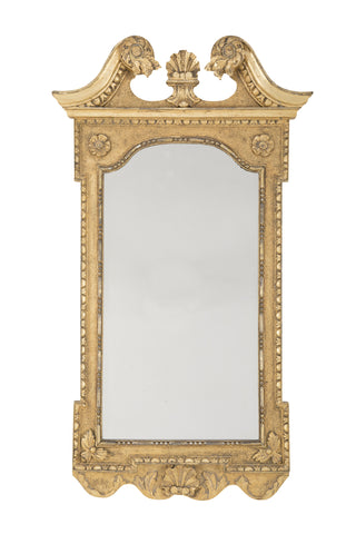 George II Period Carved & Gilded Gesso Looking Glass
