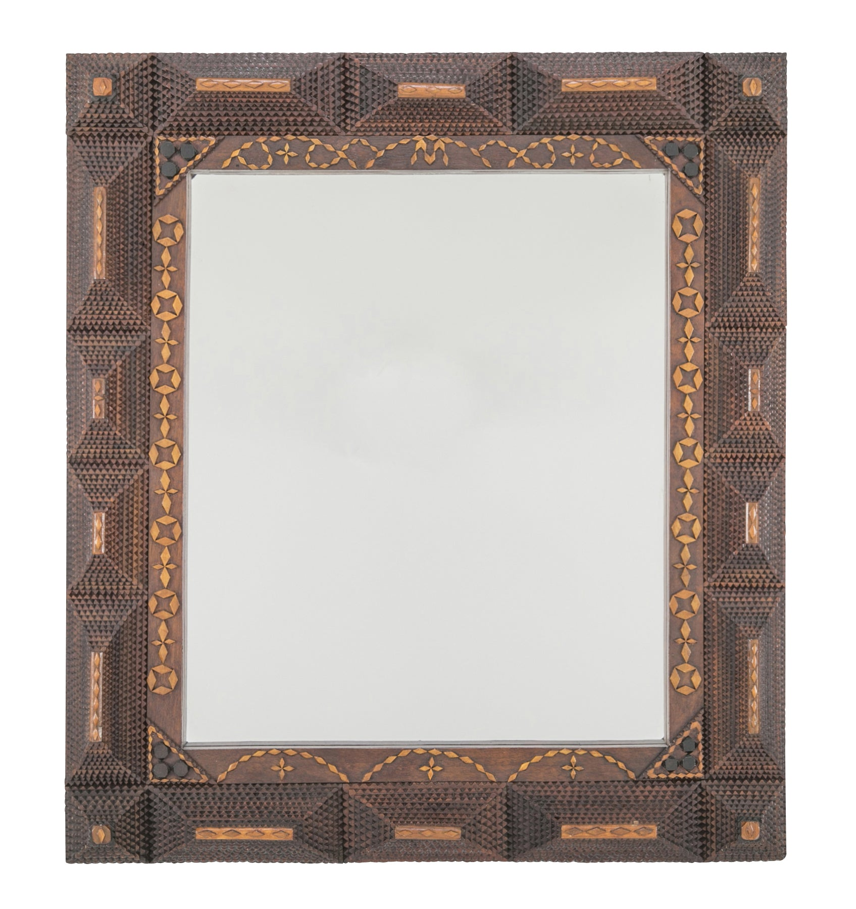 Tramp Art Frame with Mirror – Avery & Dash Collections