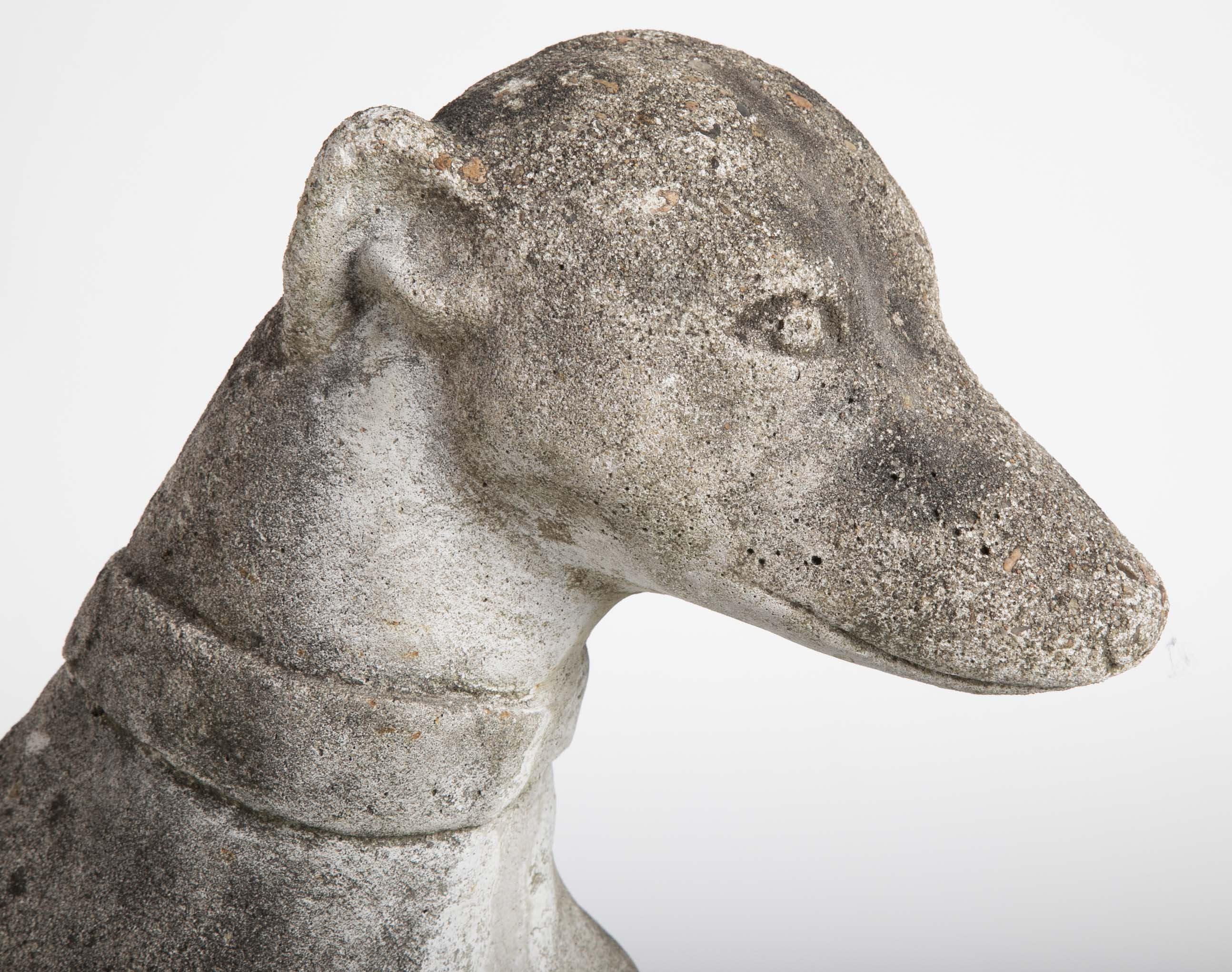A Cast Stone Figure of a Whippet