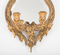 Early 19th Century Italian Gilt, Gesso & Carved Mirrored Girondels