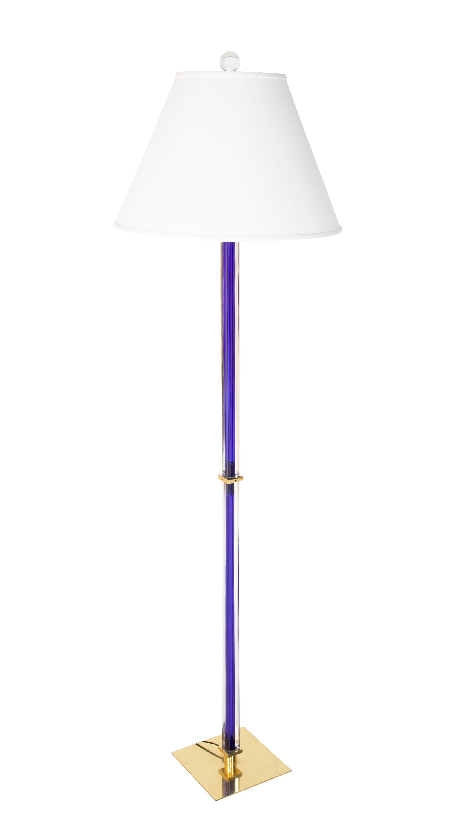 A Murano Venini Glass Floor Lamp
