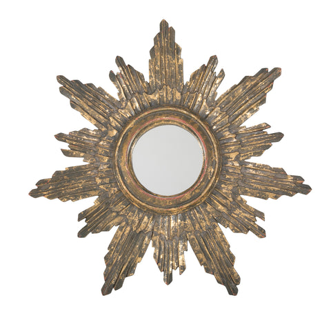 Late 20th Century Gilt Star/Sun Burst Mirror
