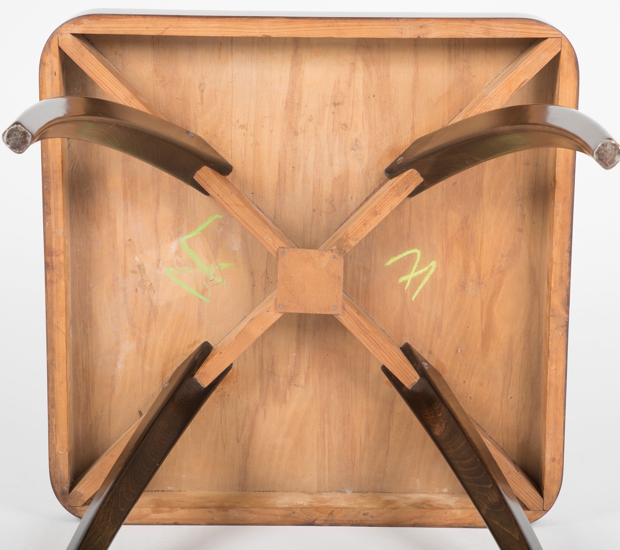 Walnut Side Table Designed by Jindrich Halabala in the 1930s