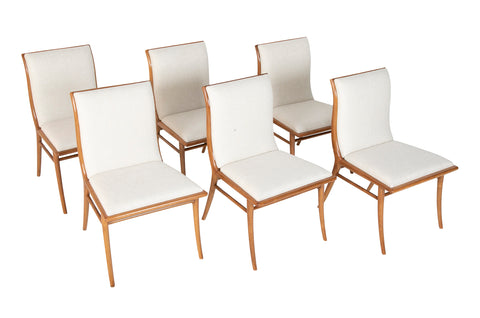 Set of Six Dining Chairs by T.H Robsjohn-Gibbings.