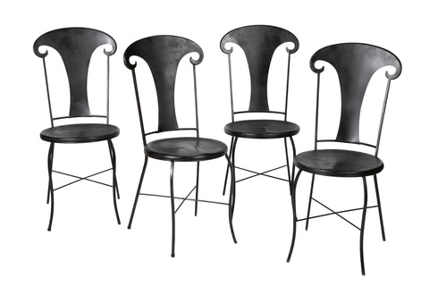 Set of Four French Cafe Chairs
