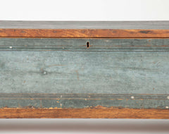 Rare Captain's Painted Pine Chart Box