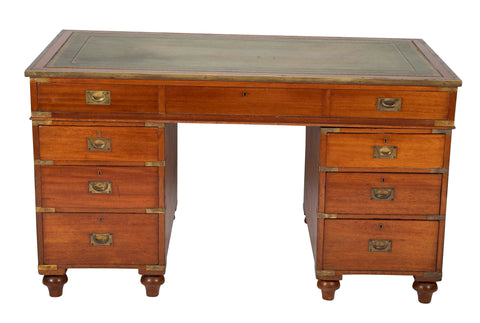 19th Century British Three Part Campaign Desk