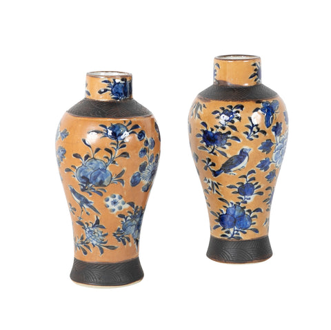 Matched Pair of Chinese Mid-Qing Dynasty Vases