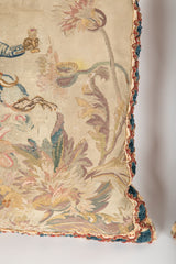 An Unlike Pair of Aubusson Tapestry Pillows