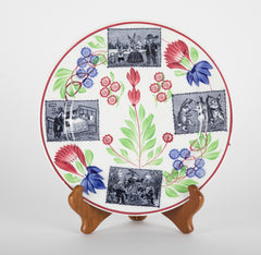"Rare Late 19th / Early 20th Century English ""Rabbitware"" Plate"
