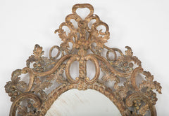 George I Period Mirror with Grape Vine Motif Frame