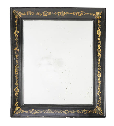 Napoleon III Black Wood Frame with Gold Scrolling Motif