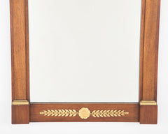 Empire Mahogany & Gilt Bronze Mounted Console with Mirror