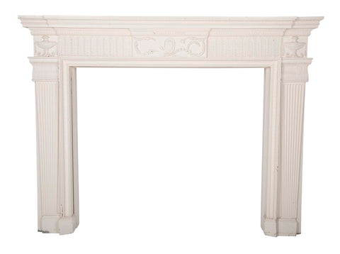 American Federal Mantle of Pine with Superb Architectural & Decorative Elements