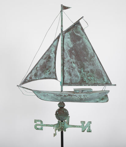 Copper Schooner Weathervane