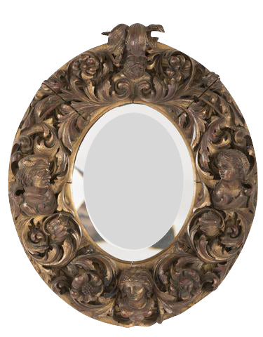 Italian Baroque or Rococo Carved Frame with Mirror
