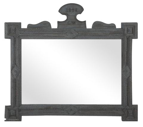 Tramp Art Mirror Frame