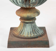 Large 19th Century Cast Iron Urn