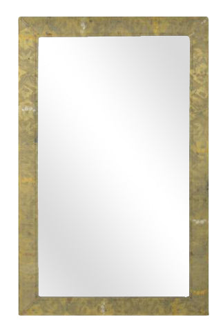 Mirror with a Frame Covered in Japanese Obi Fabric